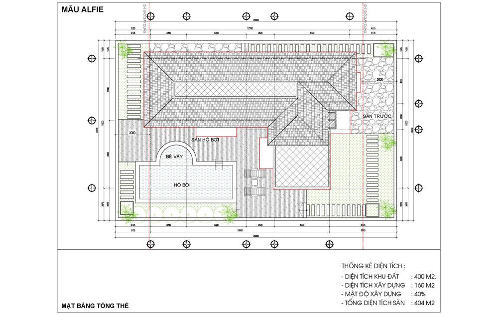 Mặt bằng mái Biệt thự Alfie Barkley Dự án BRG Hải Phòng