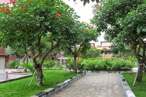 Cư dân có thể tận hưởng khu công viên xanh mát