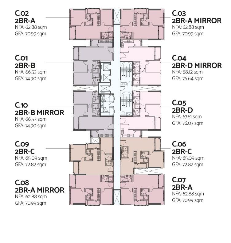 Mặt bằng chi tiết căn hộ De La Sol Quận 4