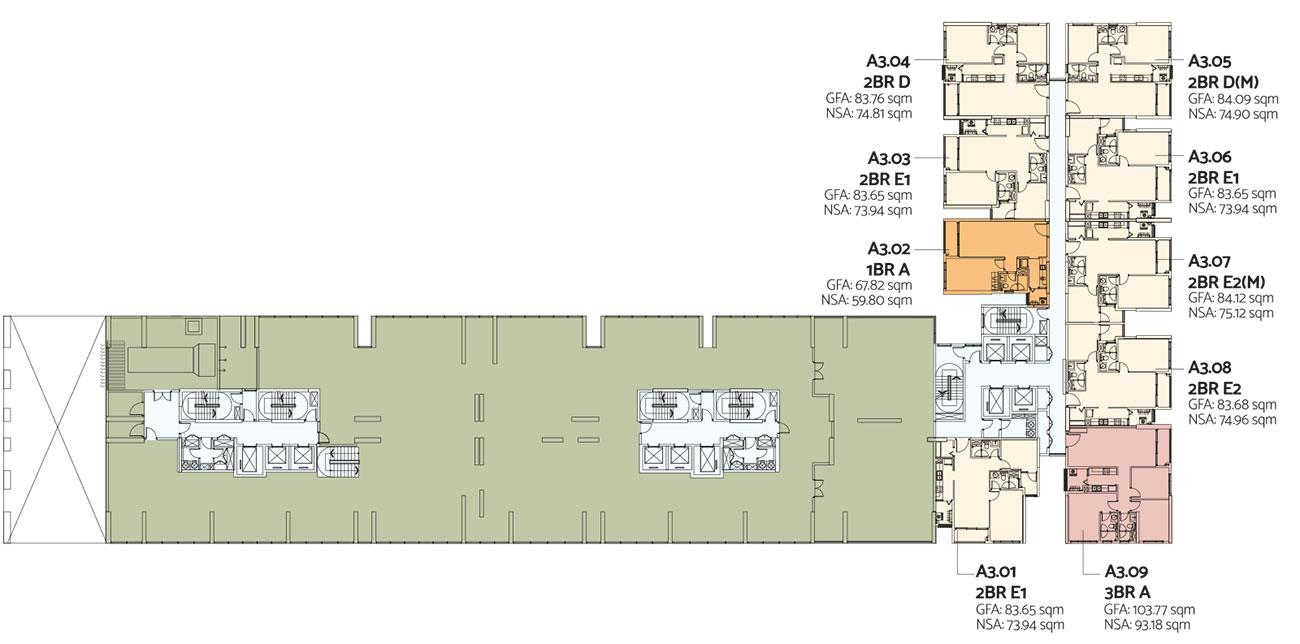 Mặt bằng tầng 1 toà Alto dự án căn hộ De La Sol Quận 4