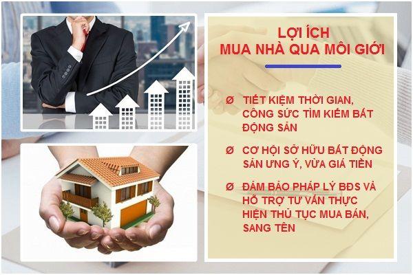 Những lợi ích mua nhà đất qua môi giới bất động sản