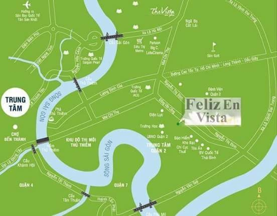 Vị trí dự án Feliz En Vista